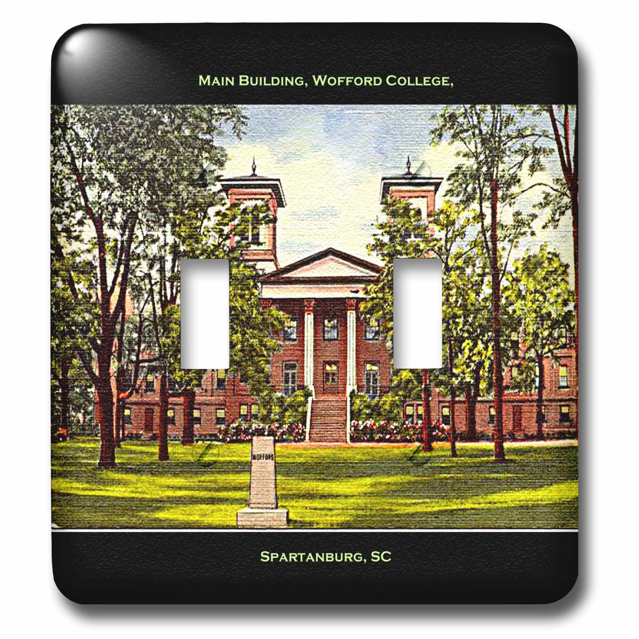 3dRose  lsp_61753_2 Main Building Wofford College Spartanburg Sc  Double Toggle Switch