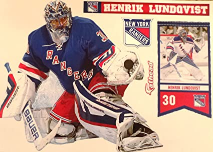 Fathead Henrik Lundqvist New York Rangers Logo Set Nhl Vinyl Wall