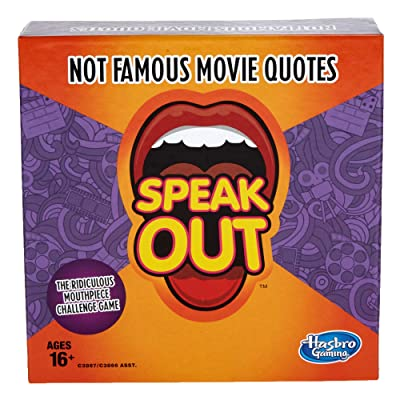 Hasbro Gaming Speak Out Expansion Pack: Not Famous Movie Quotes: Toys & Games