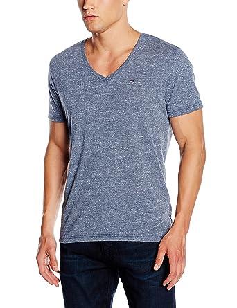 Tommy Jeans Hilfiger Denim Herren T-Shirt Original Melange VN Knit s/s,