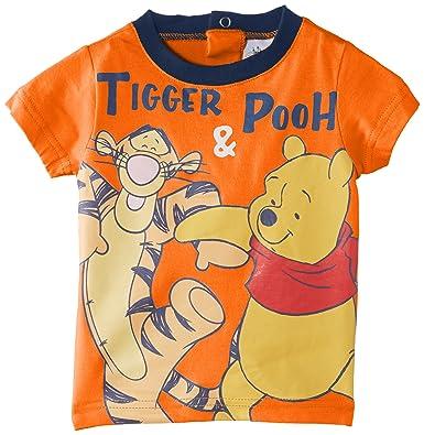 5f3d2ba0b5ea8 Disney Baby Boys 0-24m Winnie The Pooh Short Sleeve T-Shirt, Orange  (Paprika), 12 Months: Amazon.co.uk: Clothing