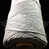 100 Meters, SPARKLE SILVER BEAUTIFUL BAKERS TWINE 100% COTTON 2mm 2 PLY MADE IN THE UK - STRING CORD CRAFT PAPER - FREE UK DELIVERY