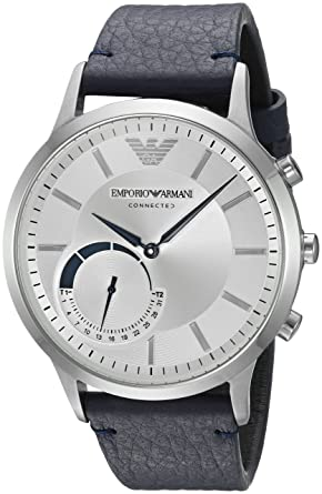 Buy Emporio Armani Men s ART3003 Blue Leather Connected Hybrid Smartwatch  Online at Low Prices in India - Amazon.in 1ee8dc2152b