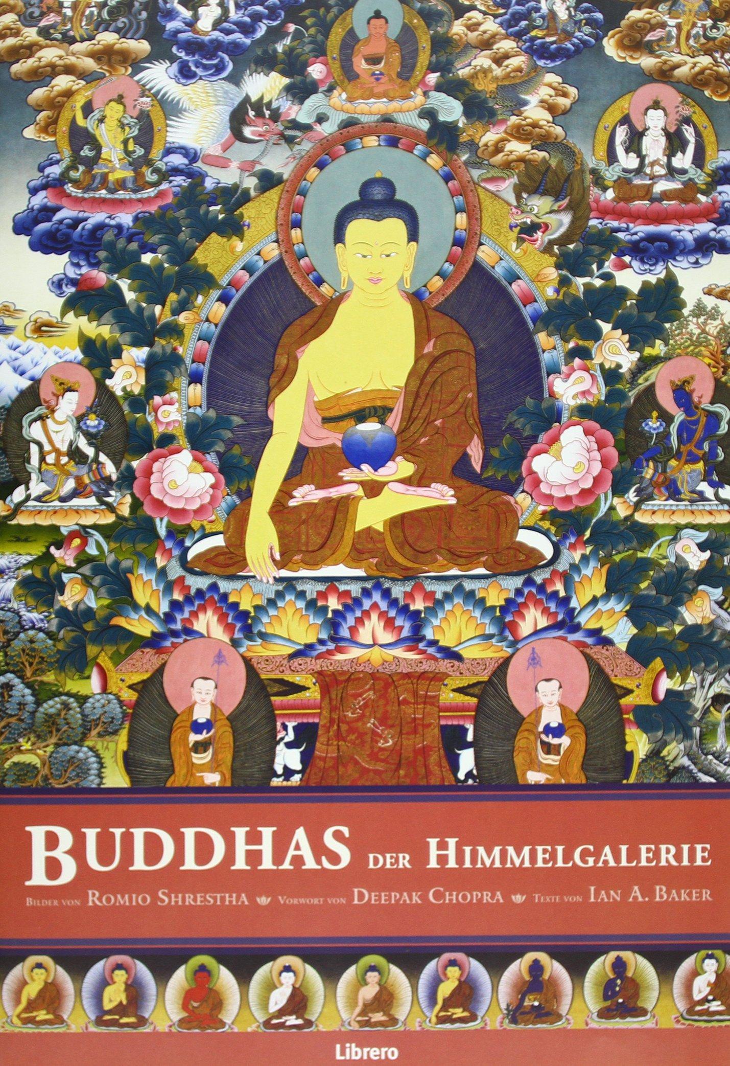 Buddhas der Himmelgalerie: Gemeinschaftsarbeit des gefeierten Himalaya-Künstlers Romio Shrestha und dem buddhistischen Gelehrten Ian Baker, zeigt den ... Gautama, seine Lehre und seine Kraft.