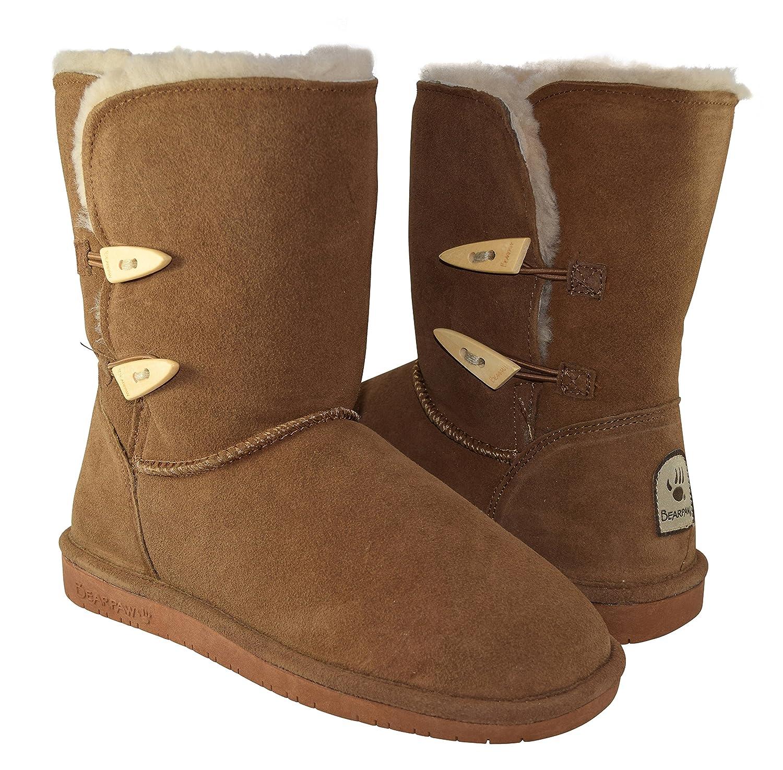 BEARPAW Women's Abigail Shearling Boots 682-W B00NAMIAHA 40 M EU|Hickory