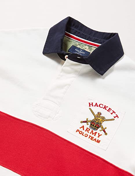 Hackett London Army Panel Rby Camisa Manga Larga para Hombre