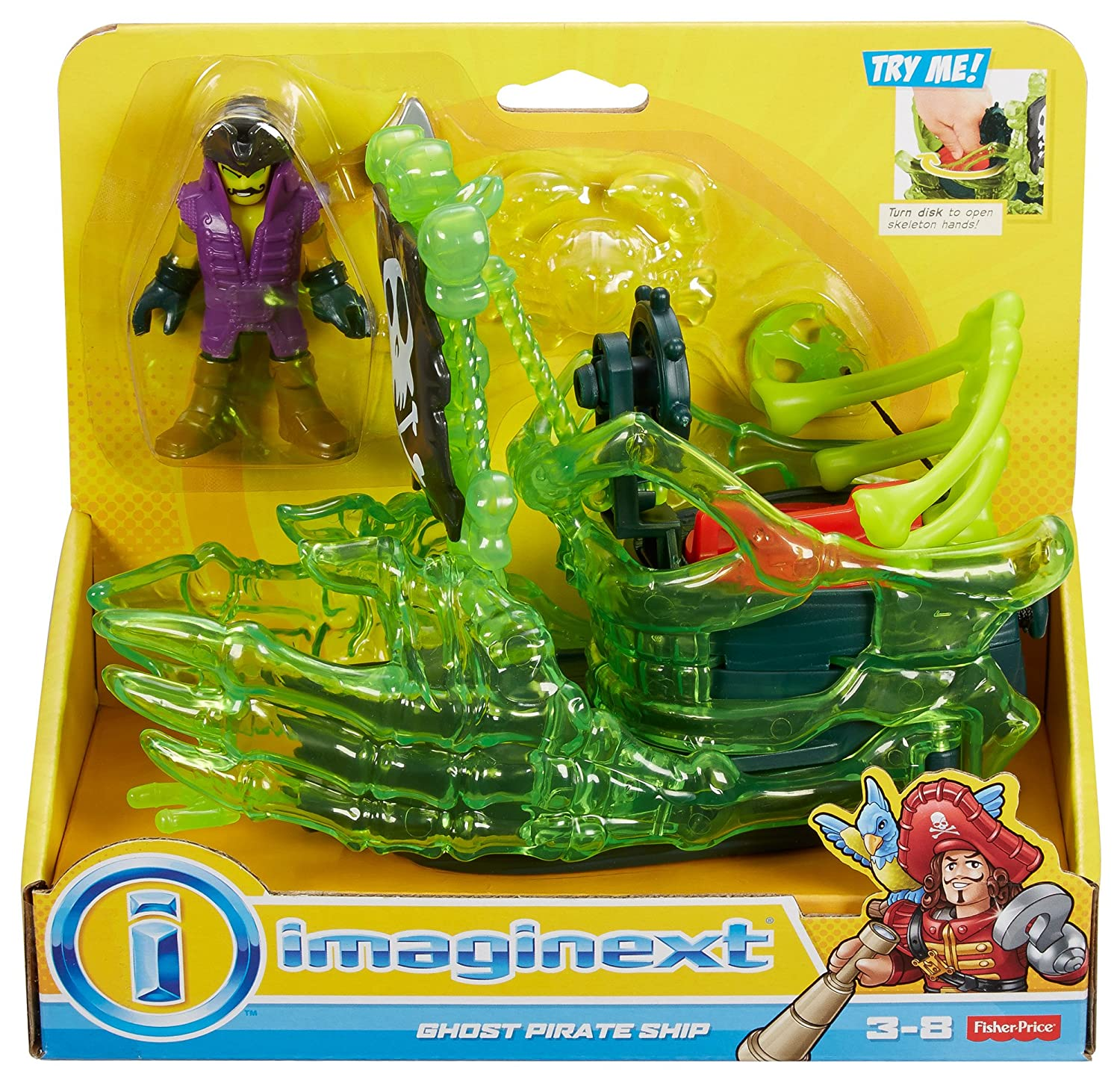 Amazon Fisher Price Imaginext Ghost Pirate Ship Toys & Games