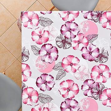 Violet lavande. Vinyle PVC. KP Home Nappe en PVC facile /à nettoyer 200x140 cm
