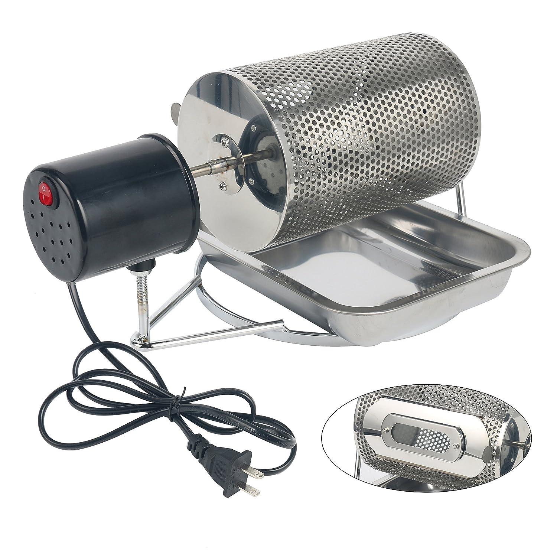 YaeTek 110V Stainless Steel Coffee Bean Roasting Machine Coffee Roaster Roller Baker Yaemart Corportation
