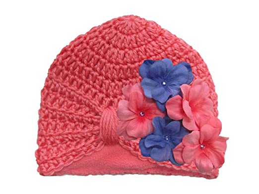 1785660ba69 Jamie Rae Hats- Candy Pink Tiny Turban with Pink Lavender Geraniums ...