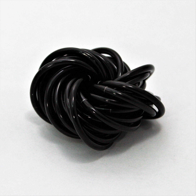 Mö bii Onyx: Medium Fidget Ball Black Stress Mobius Toy, Restless Hand Office, School, Anxiety