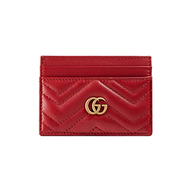 cheap for discount 309f3 03557 Gucci Women's 443127DRW1T6433 Red Leather Card Holder: Amazon.co.uk ...