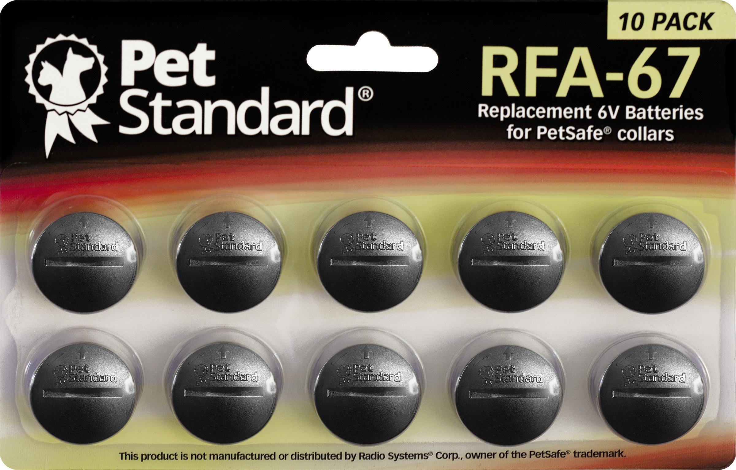 PetStandard Replacement Batteries for PetSafe RFA-67 (Pack of 10) by PET STANDARD