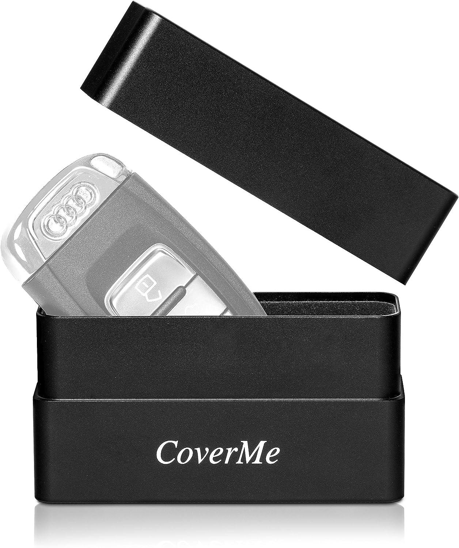 Coverme Keyless Go Schutz Autoschlüssel Rfid Funkschlüssel Abschirmung Box Premium Aluminium Case Mit Stoffeinlage Schwarz Schwarz 1 Auto