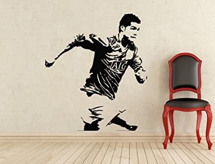 Cristiano ronaldo wall decal manchester united football vinyl cristiano ronaldo wall decal manchester united football vinyl sticker wall decor removable waterproof decal 408n voltagebd Choice Image