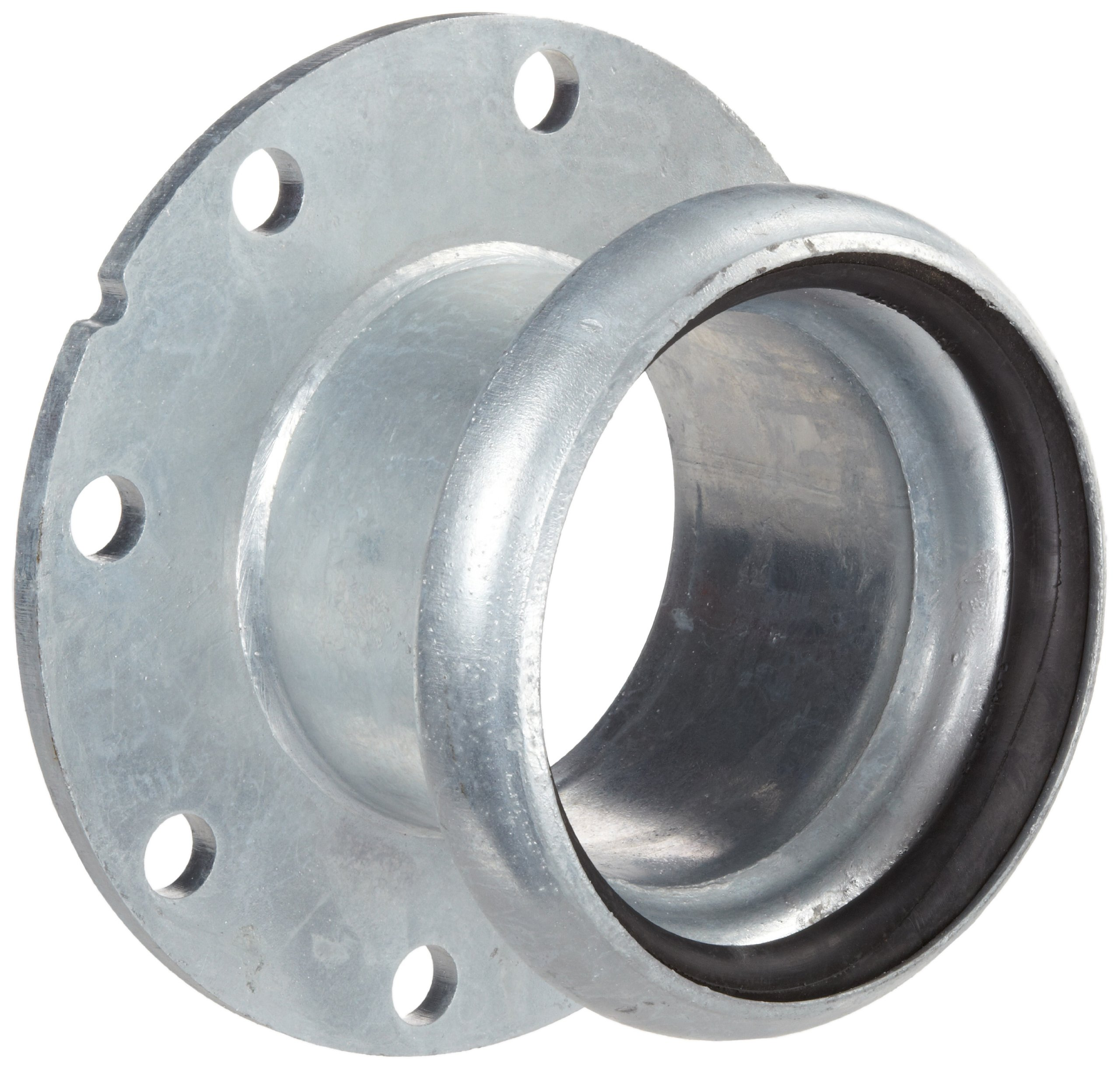 Dixon FC3146 Galvanized Steel Type B Shank/Water Quick-Connect Fitting, Coupler with Gasket, 6'' Female Coupling x 150 ASA Flange