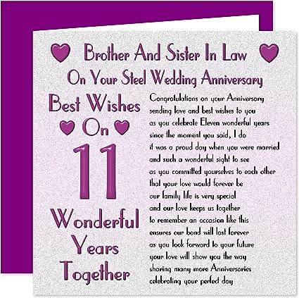 Anniversario Di Matrimonio 11 Anni.Biglietto D Auguri Per L Undicesimo Anniversario Di Matrimonio Per