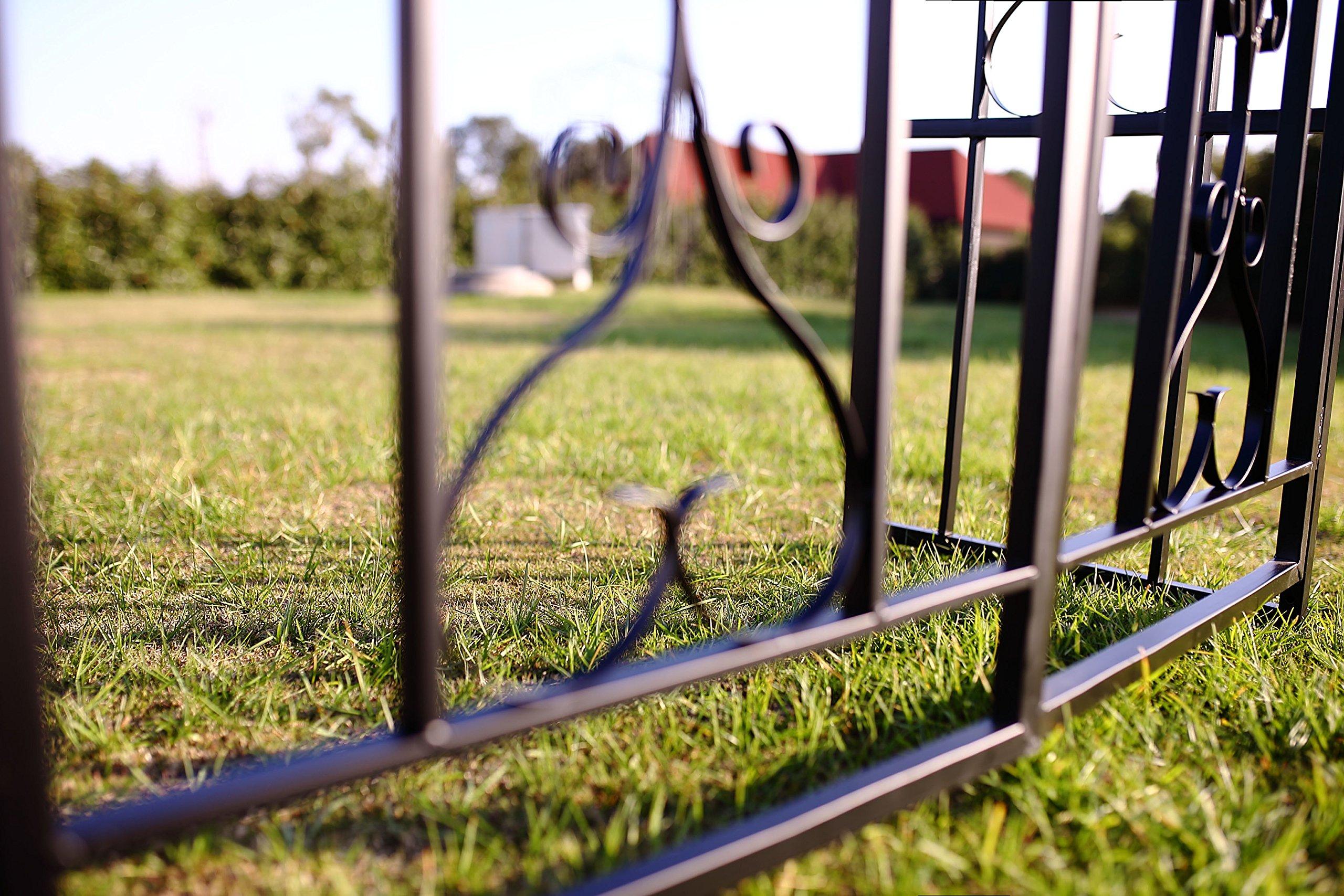 1. GO Steel Garden Arch with Gate, 6'7'' High x 3'7'' Wide, Garden Arbor for Various Climbing Plant, Outdoor Garden Lawn Backyard by 1. GO (Image #8)