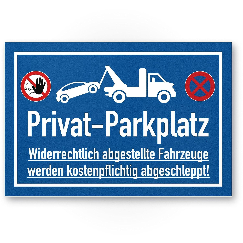 Privado Aparcamiento parkverbot - Letrero (Azul, 30 x 20 cm ...