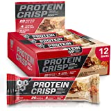 BSN Protein Crisp Bar by Syntha-6, Low Sugar Meal Replacement Whey Protein Bar, Salted Toffee Pretzel, 12 Count…