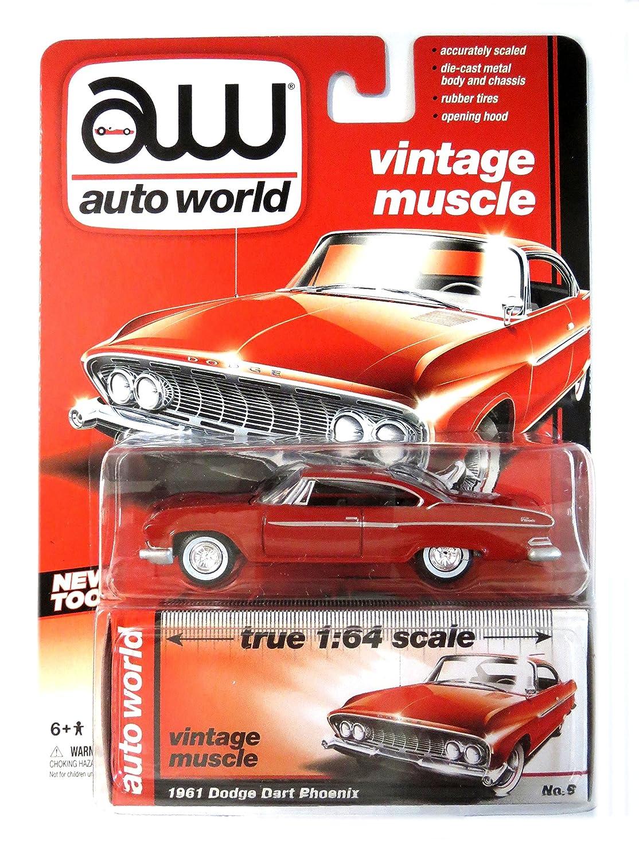 Amazon.com: Auto World Vintage Muscle 1/64 Scale 1961 Dodge Dart ...