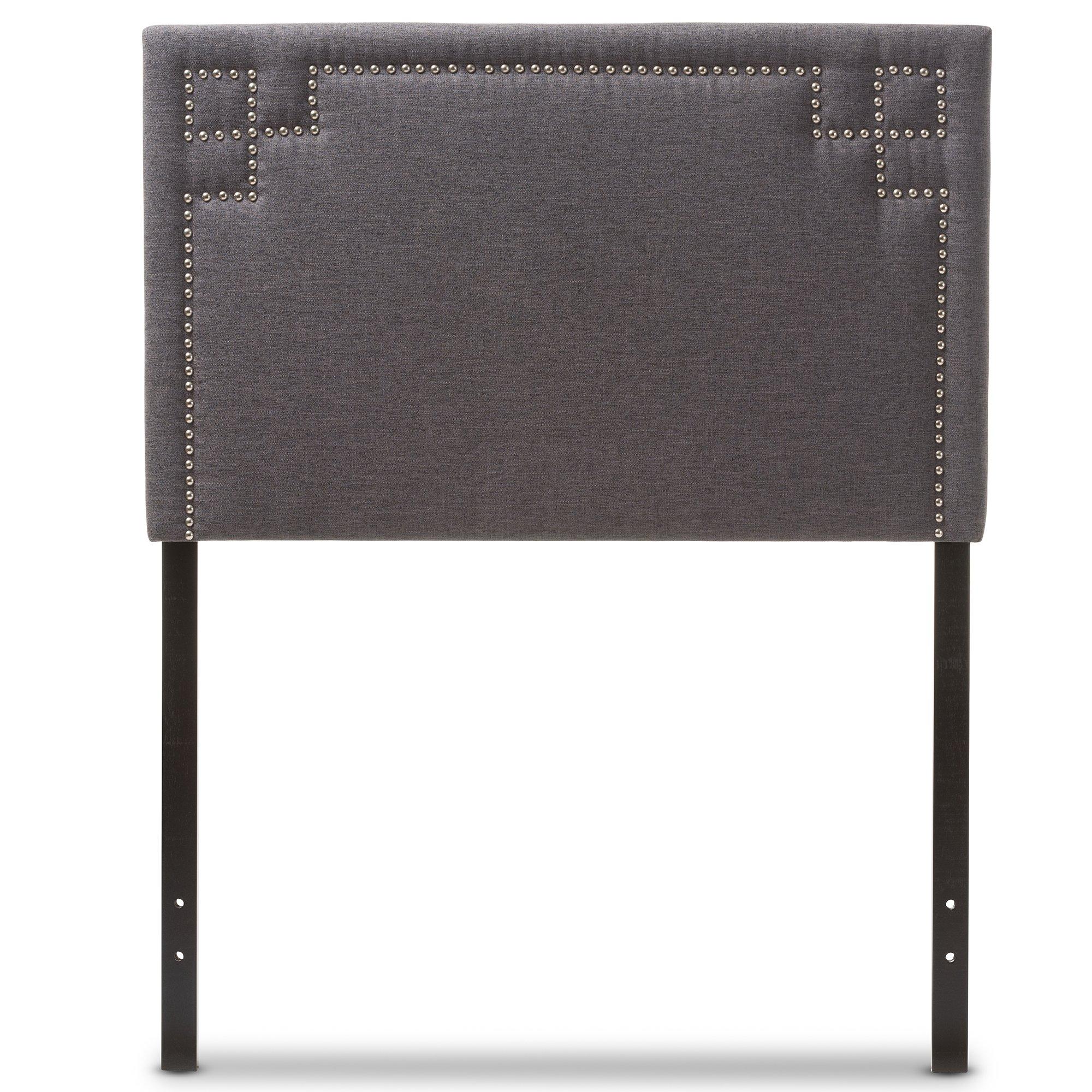 Baxton Studio Gallia Modern and Contemporary Dark Grey Fabric Upholstered Headboard, Twin by Baxton Studio