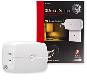 GE ZigBee Wireless Smart Lighting Control Dimmer, Plug-in, 2-Outlet, LED & CFL Bulb Compatible, Energy Monitoring, HA1.2, Works with Alexa, Echo Show, and Deco M9 Plus, 45852GE