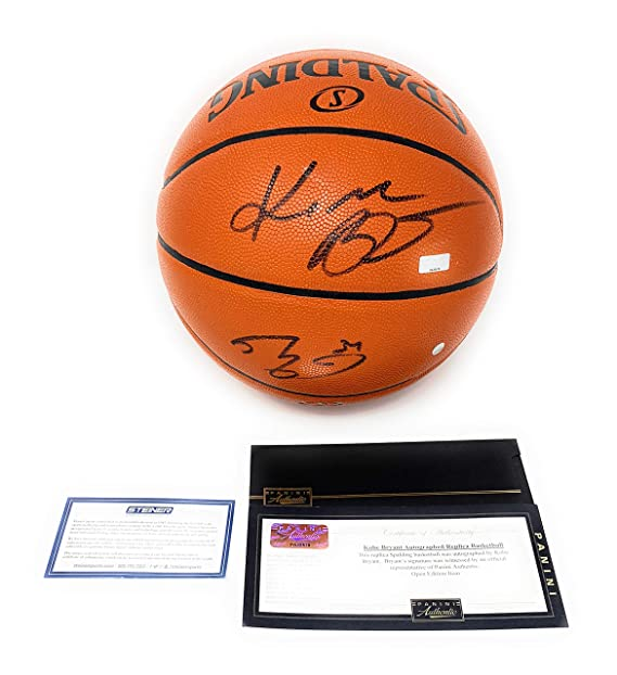 Kobe Bryant Shaquille O Neal Los Angeles Lakers Dual Signed Autograph NBA  Game Basketball Steiner Sports Panini Authentic Certified at Amazon s  Sports ... 578a71bec