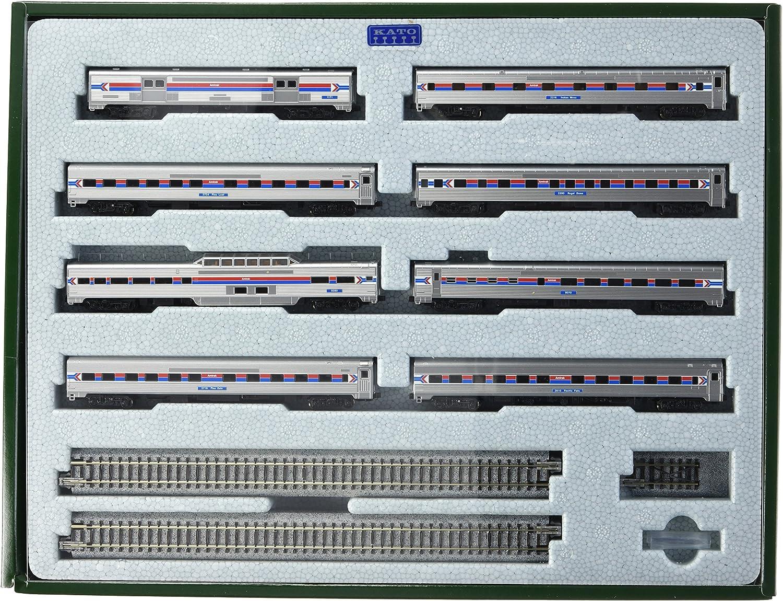 Kato USA Model Train Products N Amtrak Southwest Limited 8-Car Set with Display Unitrack