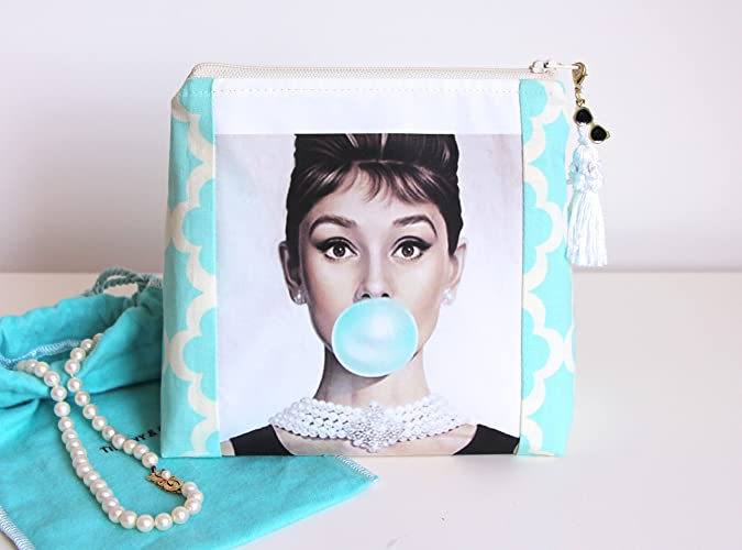 Amazoncom Audrey Hepburn Makeup Bag Makeup Organizer Cosmetic Bag - Audrey-hepburn-makeup