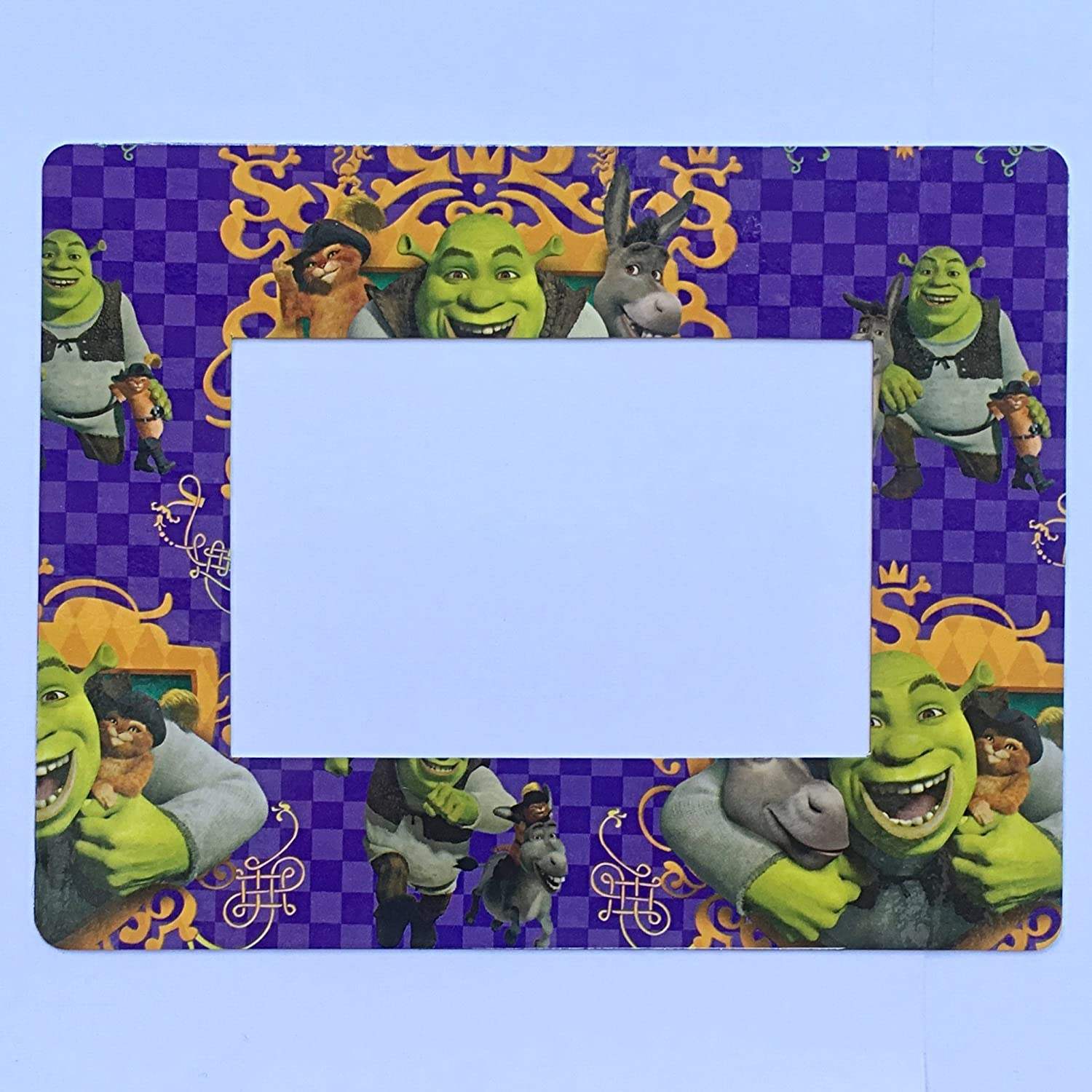 Shrek Refrigerator Magnet 4x6 Photo Magnetic Picture Frame Donkey Puss In Boot