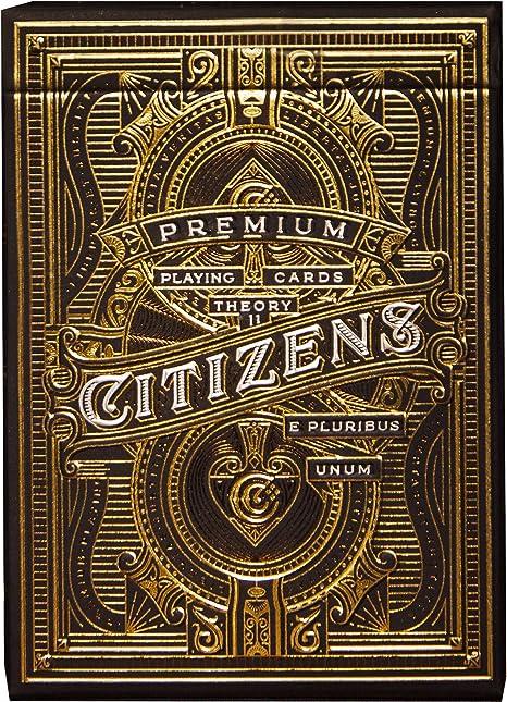 CITIZENS THEORY 11 SPIELKARTEN DECK GOLD MAGIE TRICKS VERPACKT USA NEU