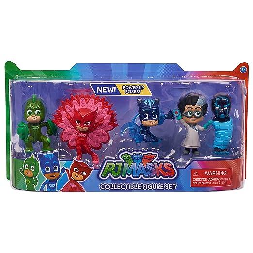 PJ Masks - Pack De 5 Figuras Súper Poder, (24688): Amazon.es: Juguetes y juegos