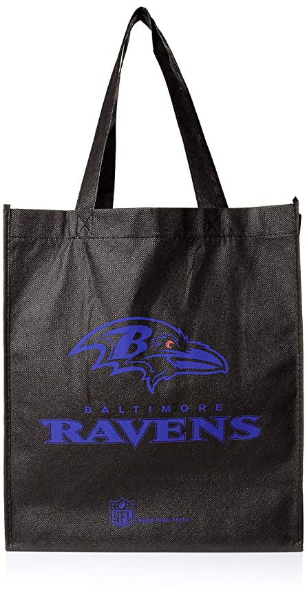 602064dc07 Baltimore Ravens Printed Non-Woven Polypropylene Reusable Grocery Tote Bag