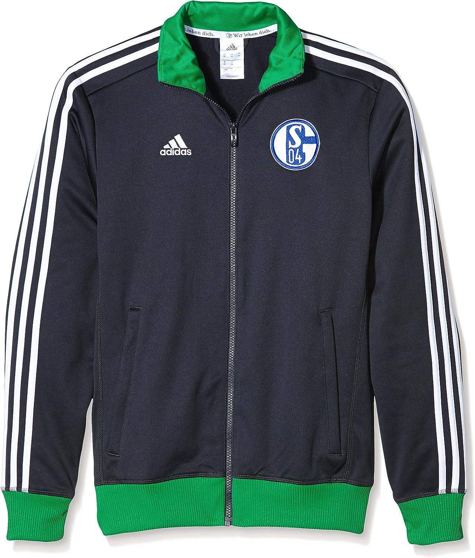 adidas Herren Jacke Fc Schalke 04 3 Stripes Track