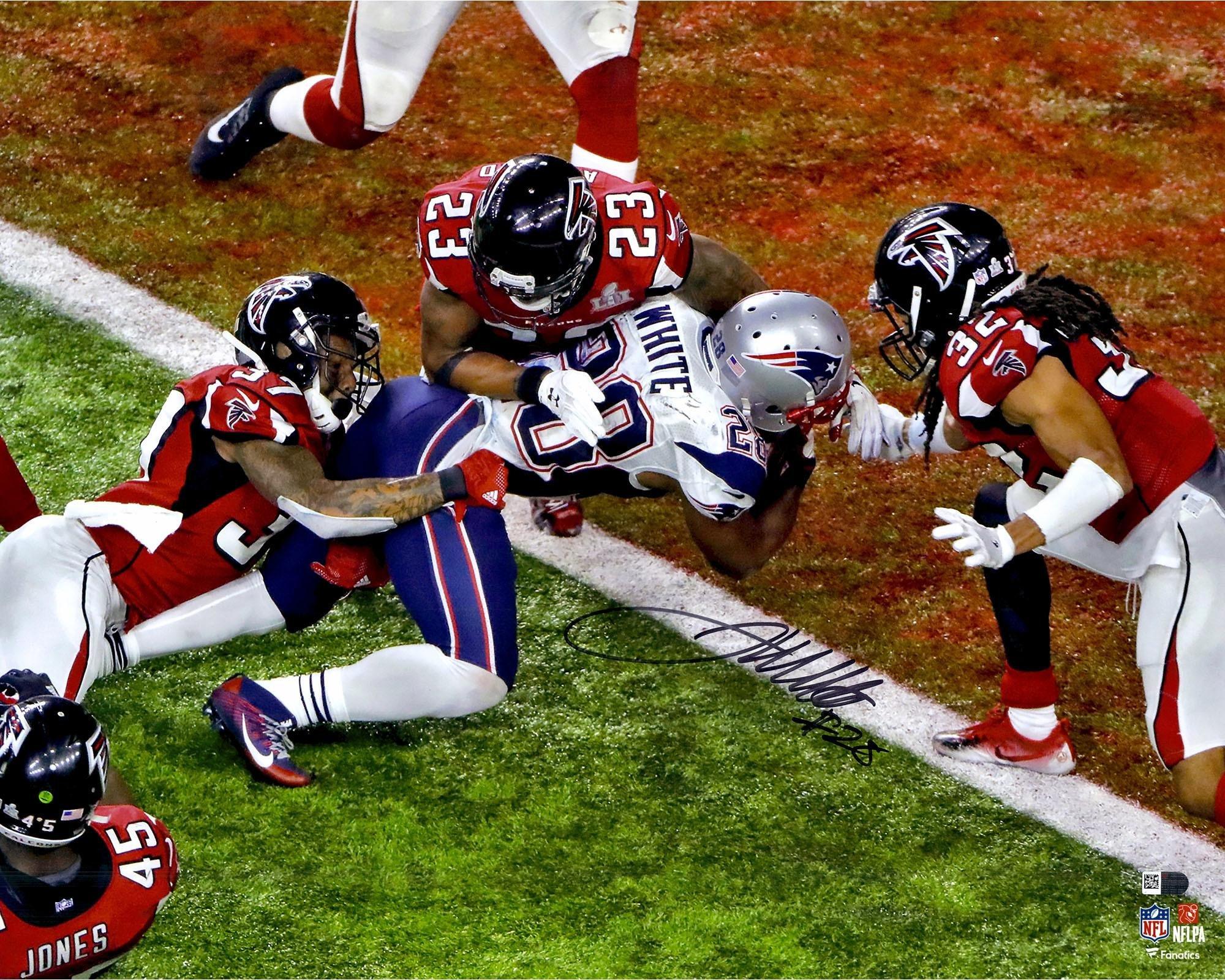 "James White New England Patriots Autographed 16"" x 20"" Super Bowl LI Champions Game Winning Touchdown Photograph Fanatics Authentic Certified"