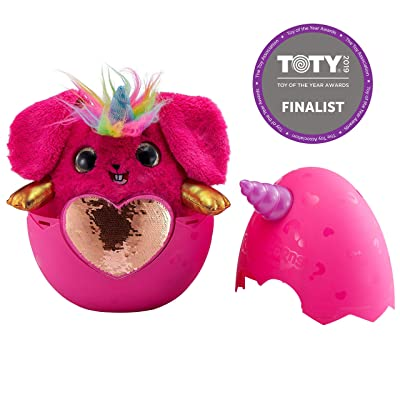 Rainbocorns Sequin Surprise Bunnycorn (Pink) Plush in Mystery Egg by Zuru: Toys & Games