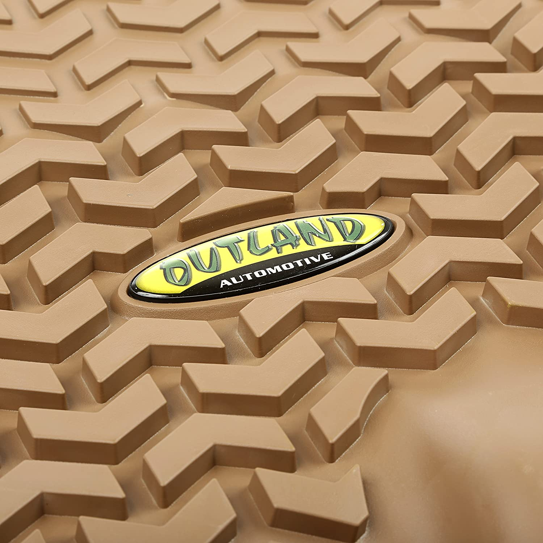 Suburban Chevrolet Avalanche Tahoe Silverado GMC Sierra and Yukon Models Outland 398390101 Tan Front Row Floor Liner For Select Cadillac Escalade