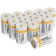 AmazonBasics D Cell 1.5 Volt Performance Alkaline Batteries - Pack of 12