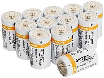 Amazoncom Amazonbasics D Cell Everyday Alkaline Batteries 12 Pack