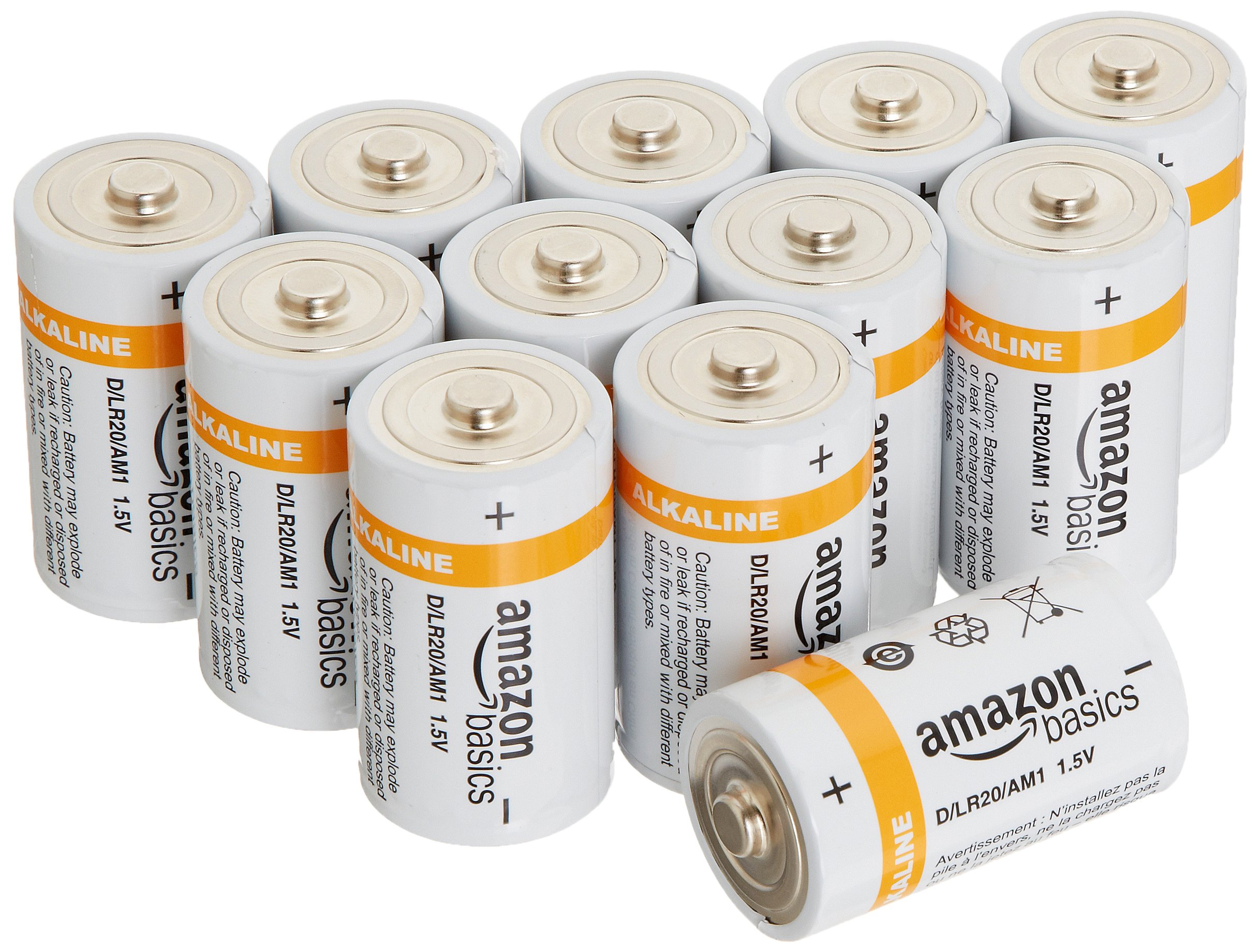 AmazonBasics D Cell Everyday Alkaline Batteries (12-Pack)