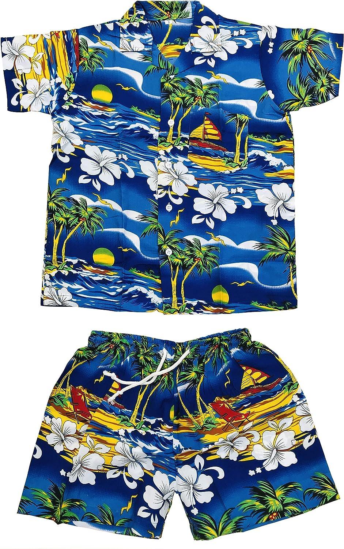Set di magliette e pantaloncini hawaiani a maniche corte per bambini e bambine Club CUBANA