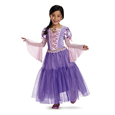 Rapunzel Deluxe Disney Princess Tangled Costume, X-Small/3T-4T: Toys & Games