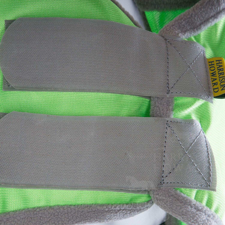 Harrison Howard CareMaster Pro Luminous Fly Mask Standard Pasture Green L; Full Size