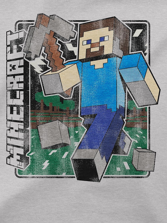 Minecraft Boys Big Vintage Steve Youth Tee