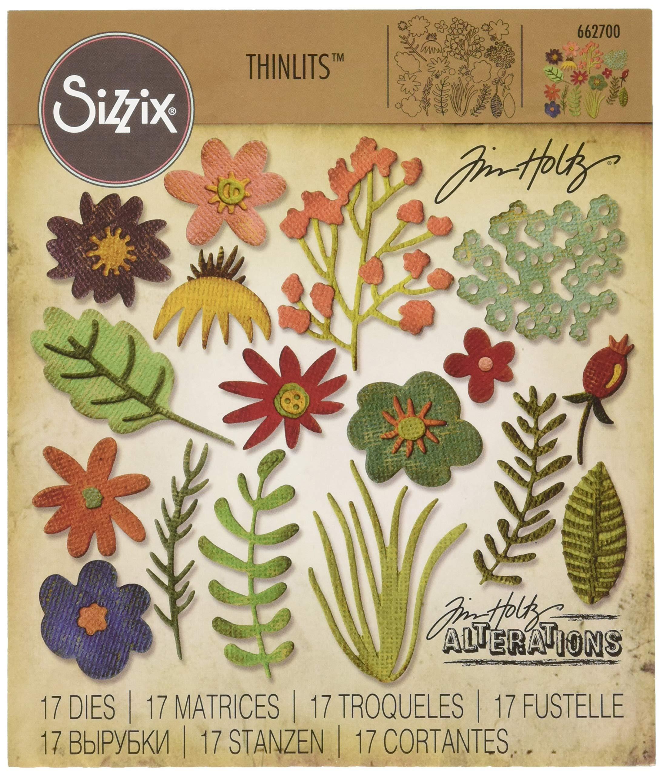 Sizzix Thinlits Die Set 17PK - Funky Floral #1