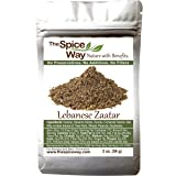 The Spice Way - Traditional Lebanese Zaatar with Hyssop | 2 oz | (No Thyme that is used as an hyssop substitute) Freshly Grow