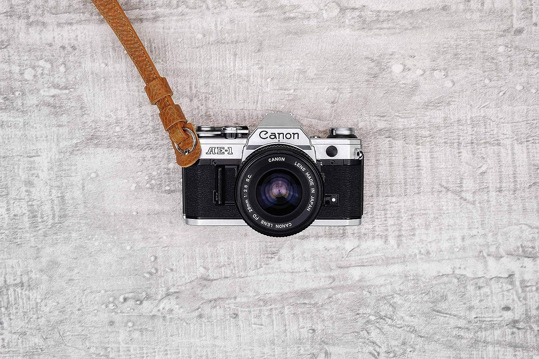 Leica UVM. Sony JDMN ATELIER Vintage Handschlaufe Kalle aus Leder f/ür Kamera Olympus Fujifilm schwarz Lederschlaufe passend f/ür DSLM und DSLR Nikon Canon