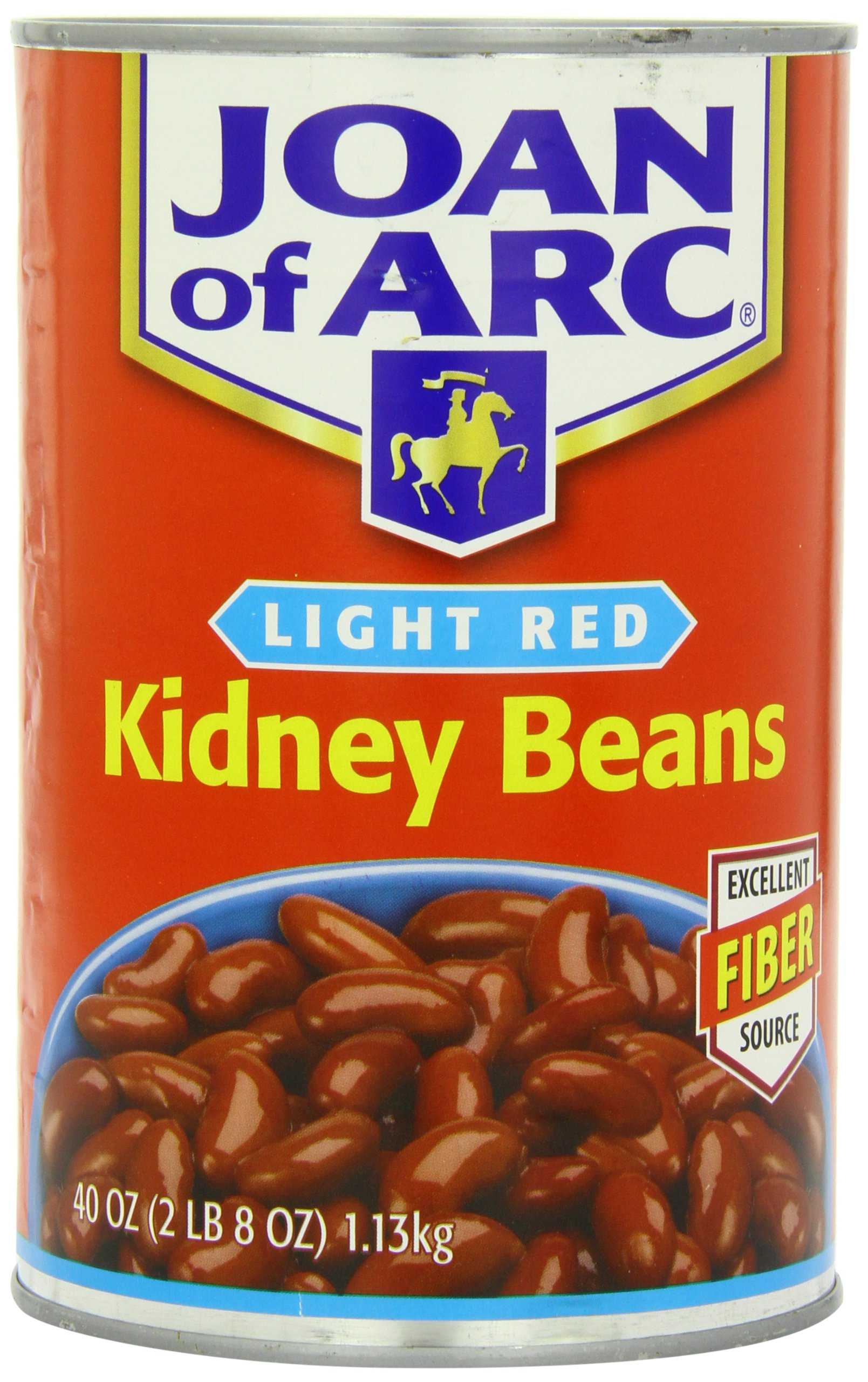 Joan of Arc Beans, Light Red Kidney Beans, 40 Ounce (Pack of 12) by Joan of Arc