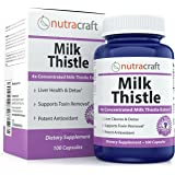 #1 Silymarin Milk Thistle Extract - 4x Concentrated 1000mg Milk Thistle Supplement for Liver Cleanse & Detox - Easy to Swallow - Made in USA - 100 Capsules - 100% Money Back Guarantee